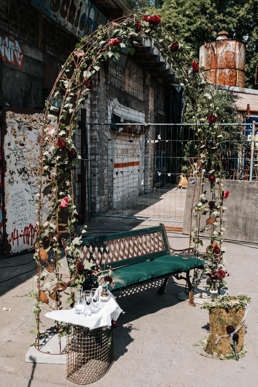 Traubogen Hochzeitsbogen DIY