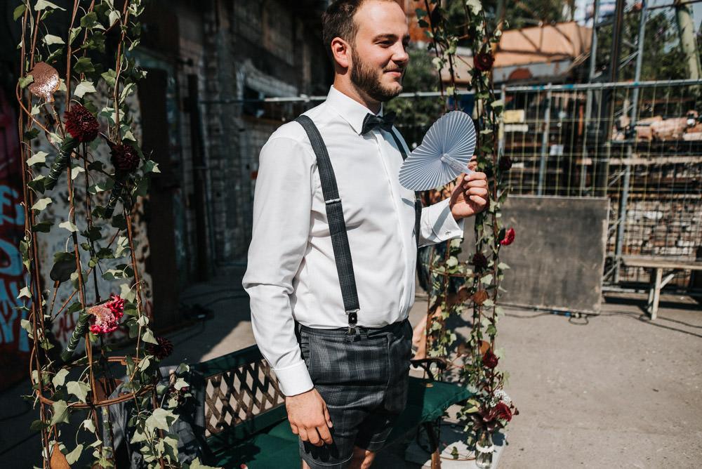 Freie Trauung im Odonien FEstival Hochzeit Köln