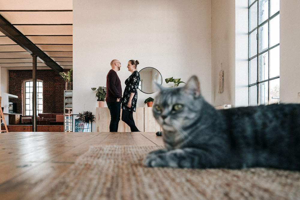 Homeshooting im Loft Paarshooting Köln