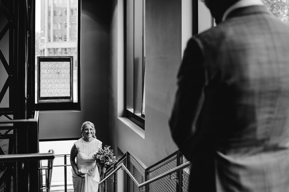 Brautpaar 25 Hours Hotel Düsseldorf Lobby