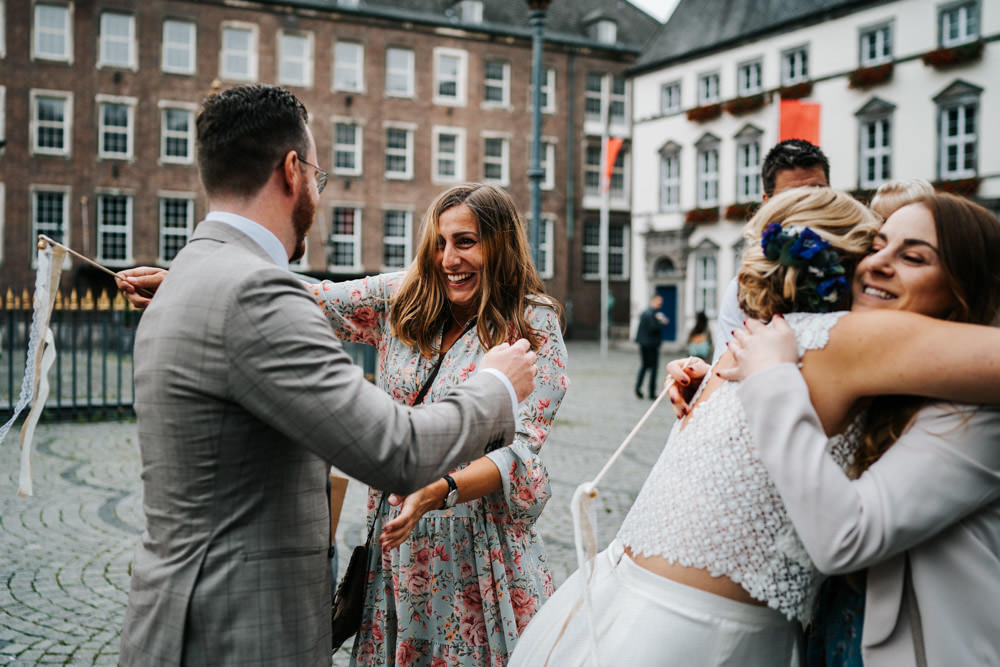 Brautpaar Spalioer Düsseldorf Hochzeit