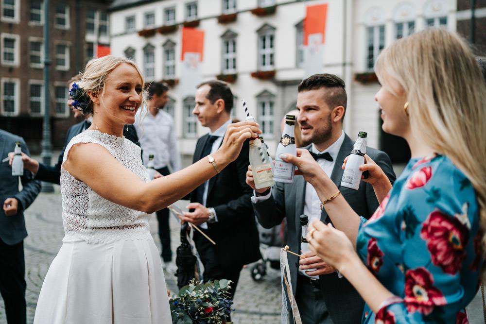 Standesamt Düsseldorf Hochzeit Sektempfang ideen